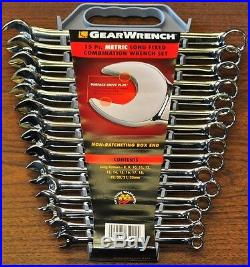 Combination wrench 15PC 8MM-22MM High Polish Extra Long Gear wrench KD 81902
