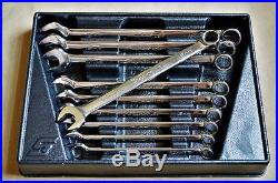 EX COND Snap on Tools 10 PIECE METRIC FLANK DRIVE PLUS WRENCH SET SOEXM710