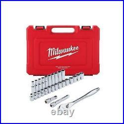 Milwaukee 48-22-9510 1/2 Drive Metric Ratchet and Socket Set 28 PC