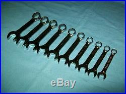 NEW Snap-on 10 thru 19 mm OXIM710B 12-point box MIDGET Combination Wrench Set