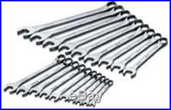 SK Tools 86224 19 Piece 12 Point SuperKrome Metric Combination Wrench Set