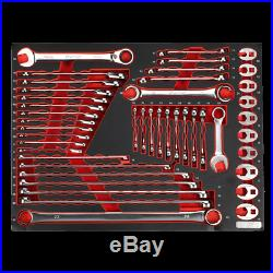 Sealey TBTP11 44 Pce Spanner Set Combi, Extra Long, Stubby, Ratchet, Crow Foot